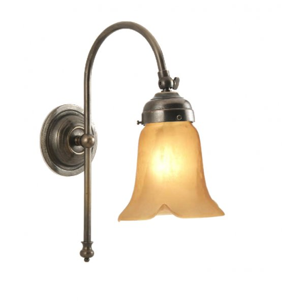 classic-british-lighting-victorian-single-wall-light-in-aged-brass-with-amber-lily-glass-shade-p3556-6293_image