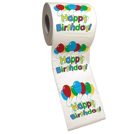 happy birthday toilet roll